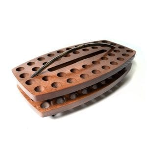 Walnut Stained Curved Stacking Communion Tray