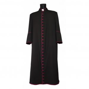 Black Cassock Purple Trim