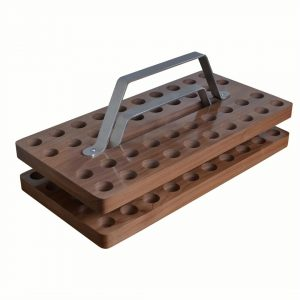 Walnut Stained Stacking Communion Tray
