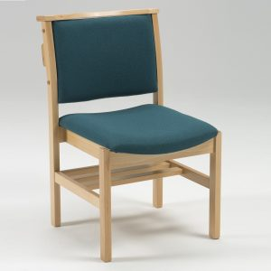 Comfortable Stacking Wooden Upholstered Chapel and Church Chair