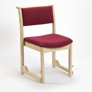 High Stacking Traditional Chapel and Church Upholstered Chair