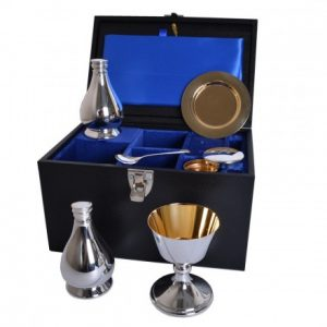 Portable Silver Plated Communion Sets by Grace Church Supplies