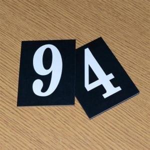 Hymn Numbers Black