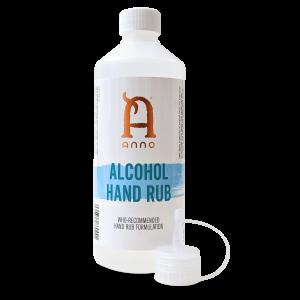 2 x 500ml Bottles Anno Hand Sanitiser 80% Alcohol Rub