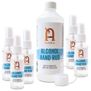 Family Pack Anno Hand Sanitiser 80% Alcohol Rub