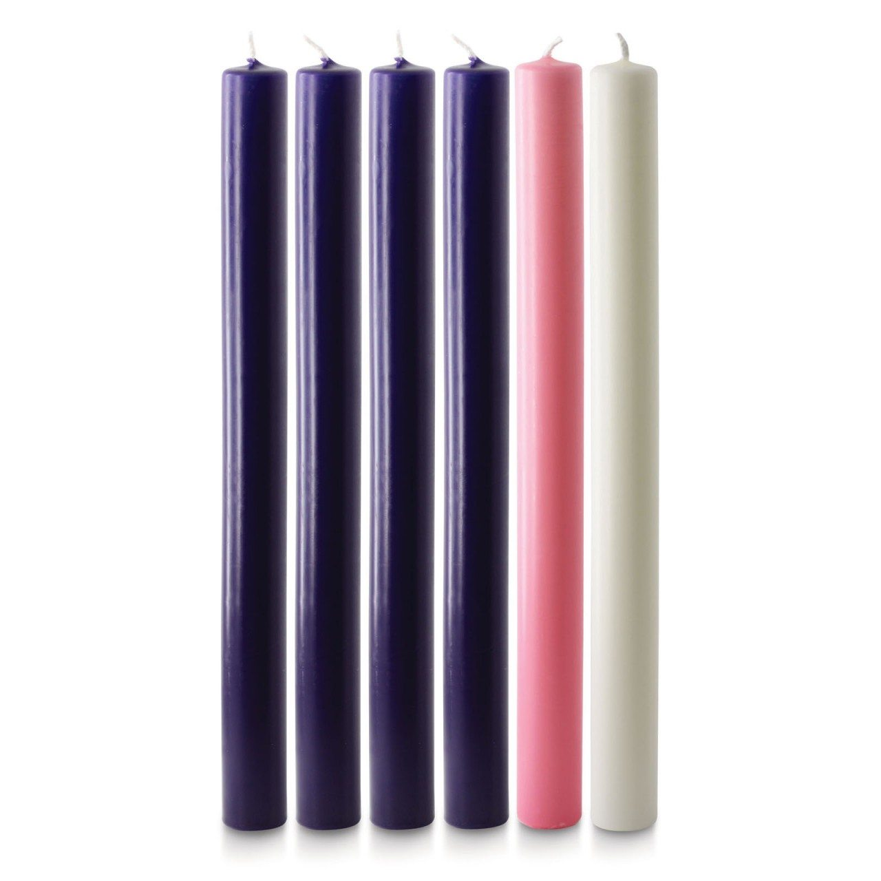 12 x 1 advent candles 4 purple 1 pink 1 white. Black Bedroom Furniture Sets. Home Design Ideas