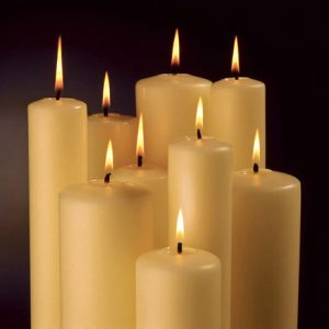 6″ x 1.5/8″ Church Candles with Beeswax – Pack 6 – Fluted