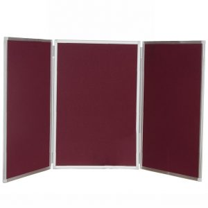 3 Panel Desktop Notice Board – Aluminium Frame