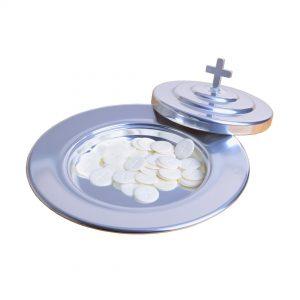 Non Stacking Silvertone Bread Plate Set