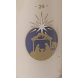 12″ x 2″ Advent Candles 1-24 Stable Design White x 5