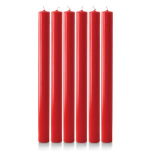 12″ x 1″ Advent Candles (6 Red)