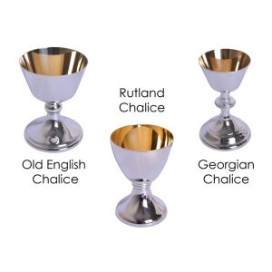 3 PCE Silver Plated Communion Set