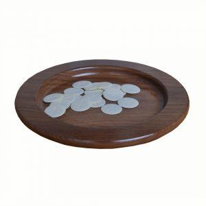 Walnut Wood Bread Plate