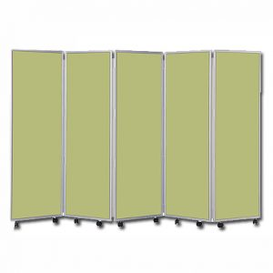Easy Clean Mobile Concertina Room Divider 1200 High