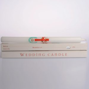 12″ x 7/8″ Wedding Candles (Boxed) – 20