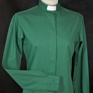 Ladies Fairtrade Clerical Shirt Green