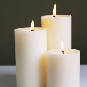 6″ x 1 3/4″ White Candles – Pack 6