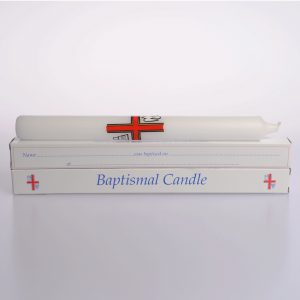 9″ x 7/8″ Baptismal Candles (Boxed) – 24
