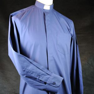 Mens Fairtrade Clerical Shirt Dark Blue