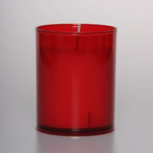 24 Hour Red Plastic Votive Lights x 60