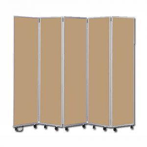 Easy Clean Mobile Concertina Room Divider 1800 High