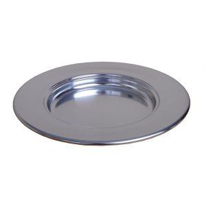 Non Stacking Silvertone Bread Plate