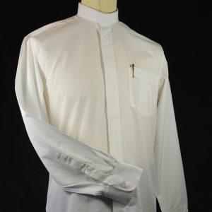 Mens Fairtrade Clerical Shirt White