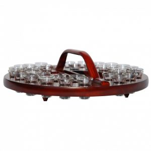 Communion Tray 02 Dark Mahogany