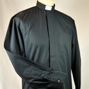 Mens Fairtrade Clerical Shirt Black