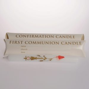 9″ x 7/8″ First Communion/Confimation Candles (Boxed) – 20