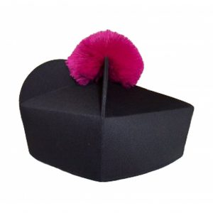 Black Biretta Purple or Red Pom