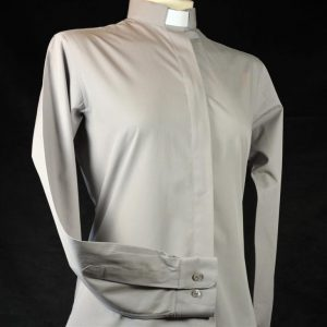 Ladies Fairtrade Clerical Shirt Grey
