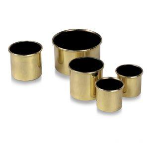 2″ High x 2″ Diameter Brass Lipped Candle Socket