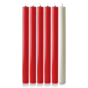12″ x 1″ Advent Candles (5 Red & 1 White)