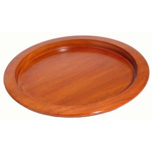 Wood Bread Plate Dark Mahogany