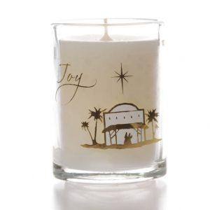 Glass Candle Joy Design x 6