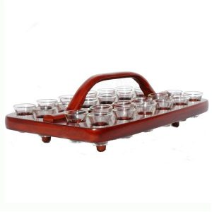 Communion Tray 04 Dark Mahogany