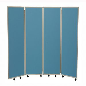 Easy Clean Mobile Concertina Room Divider 1500 High