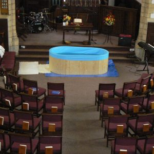 Large Round Tank Portable Baptistery