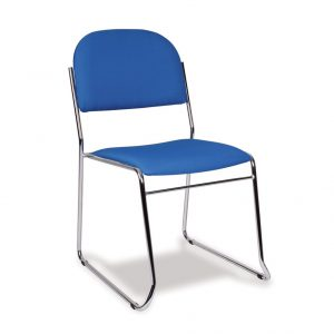 Stacking Skid Base Lightweight Upholstered Chair