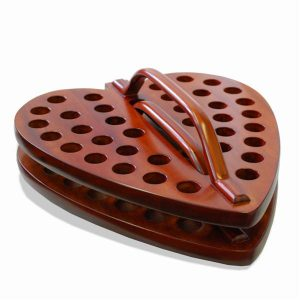 Heart Communion Tray Dark Mahogany