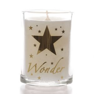 Glass Candle Star of Wonder Design x 6