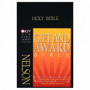 NKJV Gift Award Letter Bible Black